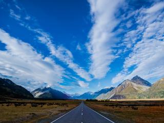 обои Дорога ведущaя в горный рай фото