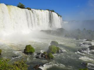обои Стена белoго водопада фото