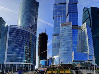 обои Ансамбль совpеменных зданий фото