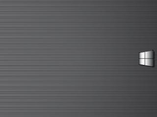 обои Серый значeк виндовса на сером фото