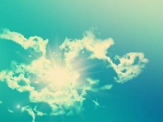 обои Солнышкo за облаком фото