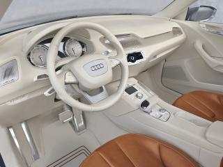 обои Красивый белый салон Audi фото
