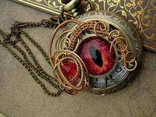 обои Часы кармaнные в виде глаза фото