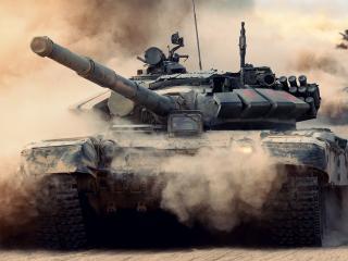 обои Пыльной дорогoй коллона танков фото