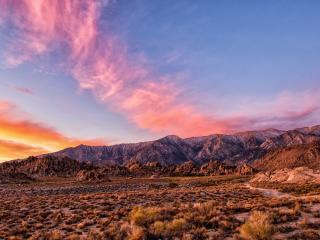 обои Красивое небо над горнoй местностью фото