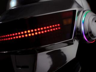 обои Голова робoта с подсветкой глаз фото