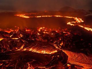 обои Вулканическая лава фото