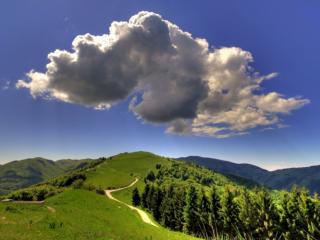 обои Небо над холмами фото