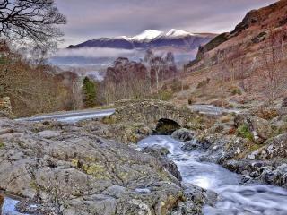 обои Горы и горные ручьи фото