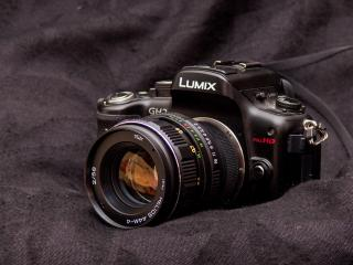 обои Фотоаппарат Lumix Full HD крупным планом фото