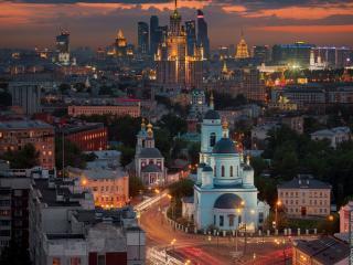 обои Ночная Москва фото