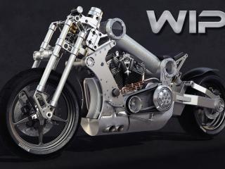 обои Мощная нержавеющая рама у мотоцикла фото