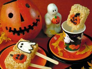 обои для рабочего стола: Воздушный рис на Хэллоуин