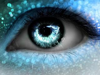обои Глаз в голубых тонах фото