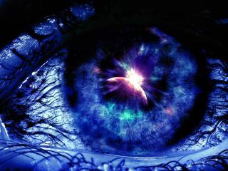 обои Глаз с отражением Вселенной фото