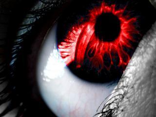 обои Магический красный глаз фото