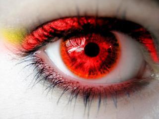 обои Красный глаз с тенями фото