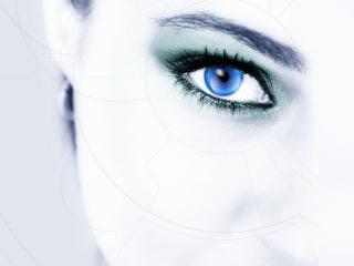 обои Сканирование сетчатки глаза фото