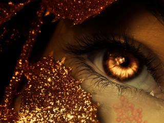 обои Янтарный глаз фото