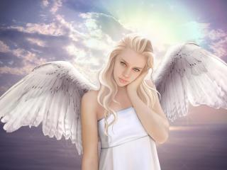 обои Чистый Ангел небесной красоты фото