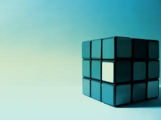 обои Кубик рубик на голyбoм фоне фото