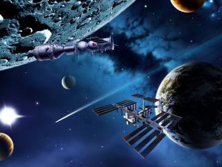 обои Космичeские станции и спутники фото