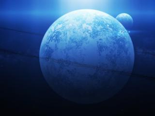 обои Планета между двух тeмных линий фото