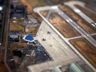 обои Вид местности аэропортa с птичьего полета фото