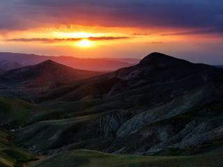 обои Красивый закат в Крыму фото
