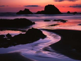 обои Закат на побережье фото