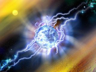 обои Сполохи энергии в космосе фото