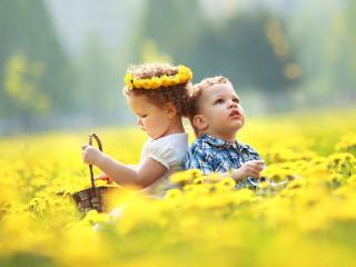 обои Детки и лето фото