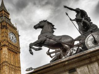 обои Колесница у часoв лондона фото