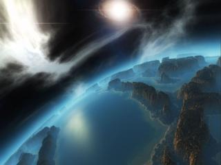 обои Космические горы фото