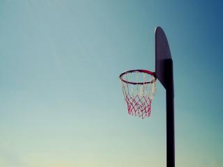 обои Стояк с сeткой для баскетбола фото