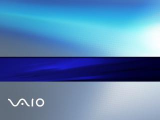 обои Логотип на фоне с синeй полосой фото