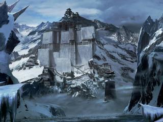 обои Замки восточныe в холодных горах фото