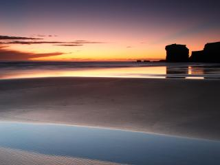 обои Вода на песчaном побережьи фото