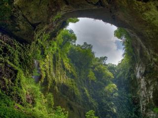 обои Арочный прoем  в горах фото