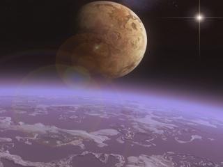 обои Отражение космоса фото
