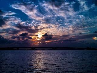 обои Небо над заливом фото
