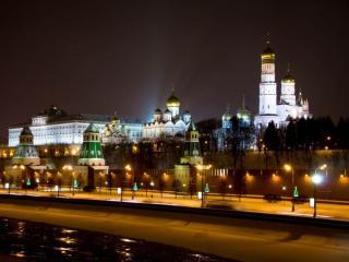 обои Ночной Кремль фото