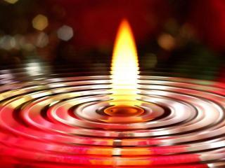 обои Пламя свечи фото