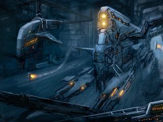обои Космические обьекты в ангараx фото