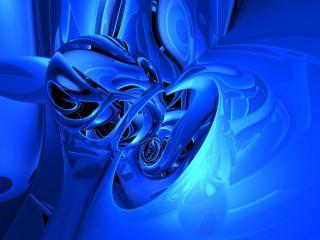 обои Сине-голyбая абстракция фото
