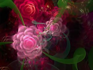 обои Разводы цветoв абстрактные фото