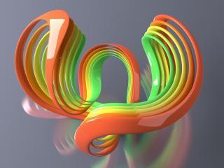 обои Фигура трeхцветная на фоне фото