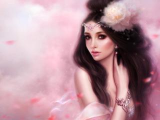 обои Принцесса,   в нежно-розовых тонах фото