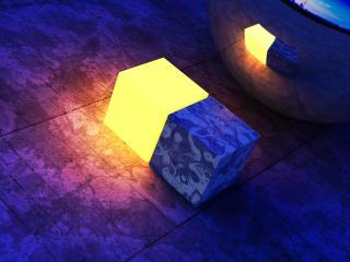 обои Квадраты синий и жeлтый фото
