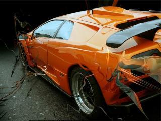 обои Lamborghini orange фото